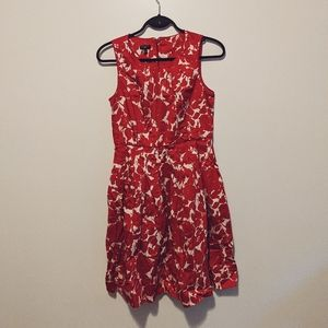 TALBOTS Petite Red Floral Dress